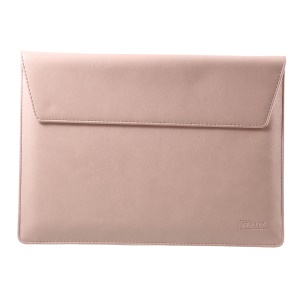 Elegant Series PU Leather Laptop Sleeve Bag Case for Macbook Air/Pro 13.3 Inch, Size: 36x25cm - Pink