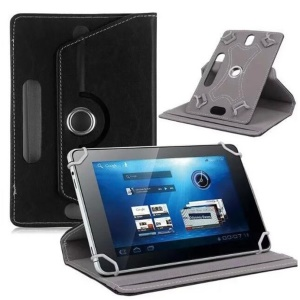 Universal 360-degree Rotary Stand Leather Tablet Case for iPad 9.7 (2018)/Galaxy Tab S3 9.7, Size: 26.5 x 17.5 x 1.2cm - Black
