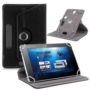 Universal 360-degree Rotary Stand Leather Cover for Huawei MediaPad M3 8.4/Galaxy Tab 8.9, Size: 24 x 16 x 1.2cm - Black