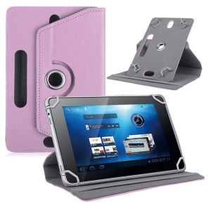 Universal 360-degree Rotary Stand Leather Tablet Case for Huawei MediaPad M3 8.4/Galaxy Tab 8.9, Size: 24 x 16 x 1.2cm - Pink