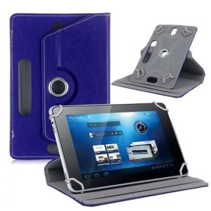 Universal 360-degree Rotary Stand Leather Protective  Case for Huawei MediaPad M3 8.4/Galaxy Tab 8.9, Size: 24 x 16 x 1.2cm - Dark Blue