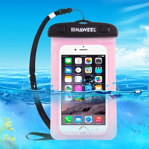 HAWEEL HWL-7002 Universal Waterproof Bag for iPhone X/8 Plus, Size: 21 x 11.5 x 1.2cm - Pink