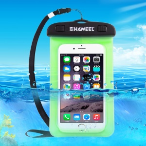 HAWEEL HWL-7002 Universal Waterproof Pouch for iPhone X/8 Plus, Size: 21 x 11.5 x 1.2cm - Green