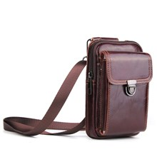 Crazy Horse Top Layer Cowhide Leather Waist Bag