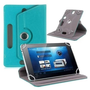 Universal 360-degree Rotary Stand Leather Folio Shell for iPad mini 5/Huawei MediaPad T3 8.0 - Baby Blue