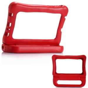7-inch Universal Shockproof Kids EVA Rim Frame with Handle Stand for Samsung Galaxy Tab A 7.0 etc - Red