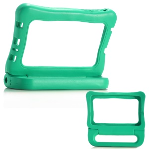 7-inch Universal Shockproof Kids EVA Backless Bumper with Handle Kickstand for Huawei MediaPad T3 7.0 / LG G Pad 7.0 etc - Green