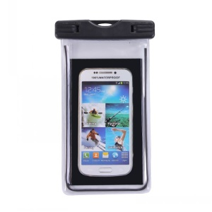 Fluorescent Waterproof ABS + PVC Bag Cover for iPhone Samsung etc, Inner Size: 10.7 x 17.3cm - Black
