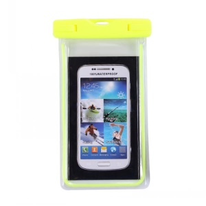 Fluorescent Waterproof ABS + PVC Protective Shell Case for iPhone Samsung etc, Inner Size: 10.7 x 17.3cm - Yellow
