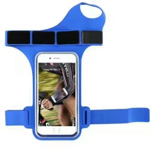 Trendy Sports 6 inch Armband Universal Smartphone Bag with Finger Hole - Blue