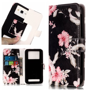 Azalea Flower - Pattern Printing Leather Wallet Universal Case Cover for iPhone 8 Plus/Galaxy J7 (2018)