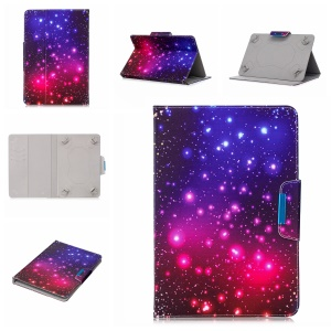 Pattern Printing Universal Stand Leather Wallet Case for 8-inch Tablet PC - Colorized Pattern