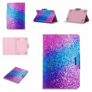 Pattern Printing Universal Stand Leather Wallet Shell Case for 8-inch Tablet PC - Colorful Glitter Pattern