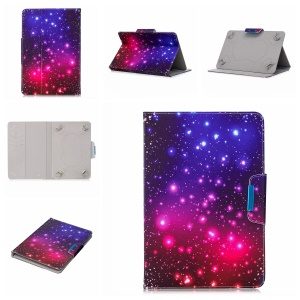 Pattern Printing Universal Wallet Leather Stand Case for 7-inch Tablet PC - Colorized Pattern