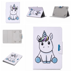 Pattern Printing Universal Leather Card Holder Case for 7-inch Tablet PC - Cartoon Pattern
