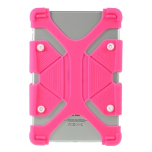 Universal Silicone Flexible Protector Casing for Lenovo Tab3 7 Plus / LG G Pad 7.0 - Rose