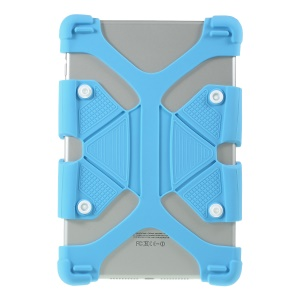 Universal Soft Silicone Flexible Protective Case for Lenovo Tab3 7 Plus / LG G Pad 7.0 - Blue