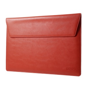 Elegant Series Universal Leather Laptop Sleeve Bag for MacBook 12-inch, Size: 31x22cm - Red