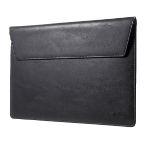 Elegant Series Universal Leather Laptop Sleeve Case for MacBook 12-inch, Size: 31x22cm - Black