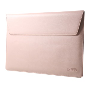 Elegant Series Universal Leather Laptop Sleeve Shell for MacBook 12-inch, Size: 31x22cm - Pink