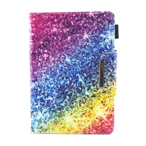 Patterned Universal 8-inch Tablet PU Leather Wallet Flip Casing for Lenovo Tab 4 8, etc - Colorful Glitter Pattern