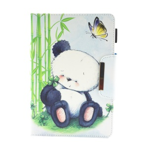 Patterned 10-inch Tablet Universal PU Leather Wallet Case for iPad 9.7 (2018) / Lenovo Tab 4 10 Plus etc - Cute Panda