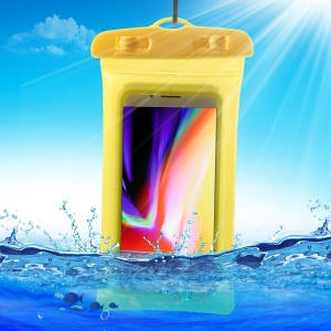 6-inch Universal Cushion Waterproof Bag Shockproof Case for iPhone Samsung Huawei etc., Size: 175 x 95mm - Yellow