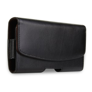 A2 4.7-5.1 inch Genuine Leather Holster Pouch Waist Bag for iPhone Samsung Huawei Etc.