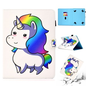 Patterned Universal 7-inch Tablet PU Leather Shell for Huawei MediaPad T2 7.0 / Galaxy Tab 3 7.0 etc - Cute Unicorn