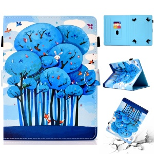 Patterned Universal 8-inch Tablet PU Leather Case for Huawei MediaPad T3 8.0 / Samsung Galaxy Tab A 8.0 etc - Animals and Butterfly