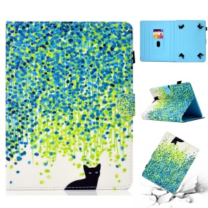 Patterned Universal 8-inch Tablet PU Leather Cover for Huawei MediaPad T3 8.0 / Samsung Galaxy Tab A 8.0 etc - Cat and Dots