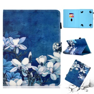 Patterned 10-inch Tablet Universal PU Leather Stand Cover for iPad 9.7 (2018) / Lenovo Tab 4 10 Plus etc - Flower Style 2
