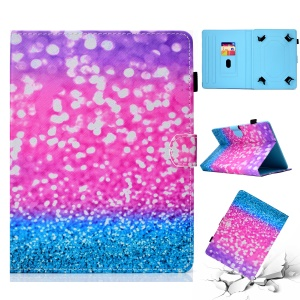 Patterned 10-inch Tablet Universal PU Leather Card Holder Shell for iPad 9.7 (2018) / Lenovo Tab 4 10 Plus etc - Glitter Pattern