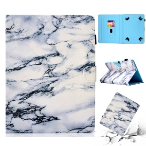 Patterned 10-inch Tablet Universal PU Leather Tablet Case for iPad 9.7 (2018) / Lenovo Tab 4 10 Plus etc - Marble Pattern