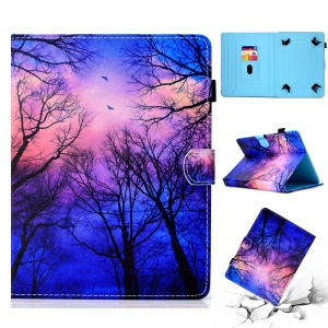Patterned 10-inch Tablet Universal PU Leather Protective Cover for iPad 9.7 (2018) / Lenovo Tab 4 10 Plus etc - Night Fall