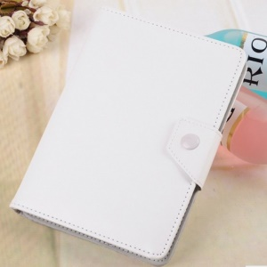 Universal PU Leather Stand Shell Tablet Protective Case for 7 inch Tablets - White