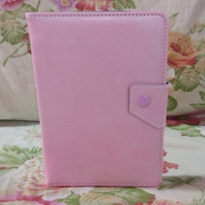 Universal PU Leather Stand Tablet Protector Cover for 7 inch Tablets - Pink
