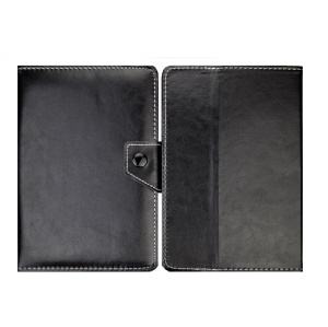 Universal PU Leather Stand Tablet Protective Case for 8-inch Tablets, Size: Length: 215mm, Width: 146-169mm - Black