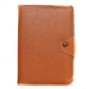 Universal PU Leather Stand Tablet Flip Cover for Tablets, Size: Length: 245mm, Width: 135-145mm - Brown
