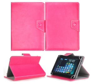 Universal PU Leather Stand Protective Case for 9.7 inch 10 inch 10.1 inch Tablets - Rose