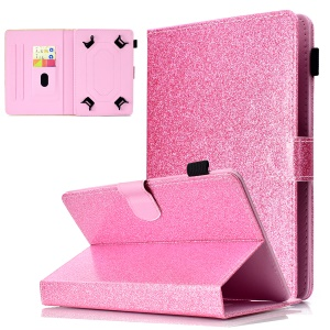 8-inch Flash Powder Universal PU Leather Card Slots Cover for Huawei MediaPad T3 8.0 etc - Pink