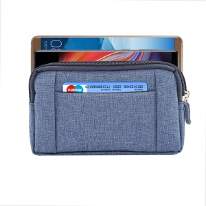 5.5-6.3 Inch Outdoor Tactical Molle Jeans Cloth Pouch Waist Pack Sports Utility Gadget Phone Bag - Blue