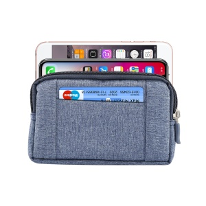 5.2 Inch Outdoor Tactical Molle Jeans Cloth Pouch Waist Pack Utility Gadget Phone Bag - Blue