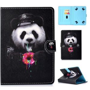 Pattern Printing Universal Leather Card Holder Case for 7-inch Tablet PC - Greedy Panda