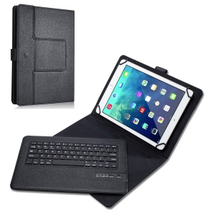 "Universal Leather Kickstand Cover with Detachable Bluetooth Keyboard for 9"" - 10"" Tablet PC"