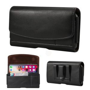 5.2 inch PU Leather Holster Case for Sony Xperia XA2, Size: 14.6 x 7.8 x 1.8cm - Black
