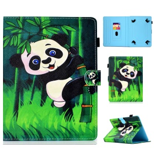 Pattern Printing Universal PU Leather Cover with Card Slots for 8-inch Tablet PC - Panda