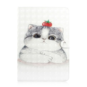 Light Spot Decor Patterned Universal Leather Wallet Protective Case for 7-inch Tablet PC - Cute Cat