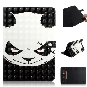Light Spot Decor Patterned Universal Leather Wallet Case for 8-inch Tablet PC - Panda