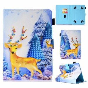 Pattern Printing Universal PU Leather Cover for Samsung Galaxy Tab A 8.0 (2018) Etc. - Deer